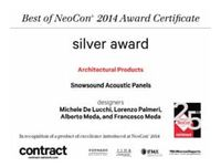 Silver Award Neocon 2014 for Snowsound technology